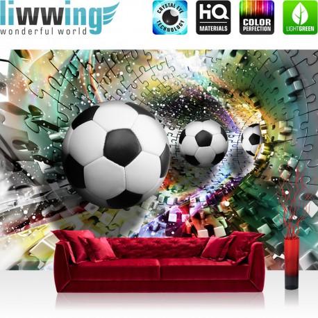 vlies fototapete no 978 fu ball tapete abstrakt. Black Bedroom Furniture Sets. Home Design Ideas