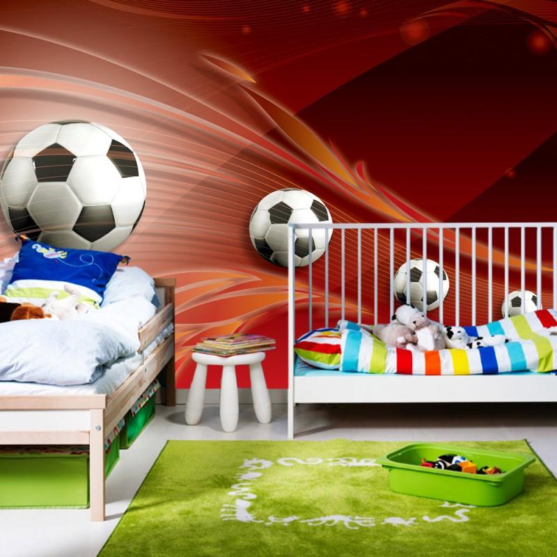 vlies fototapete no 982 fu ball tapete ornamente. Black Bedroom Furniture Sets. Home Design Ideas