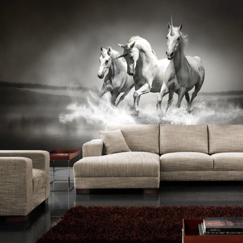 vlies fototapete no 1016 tiere tapete einh rner. Black Bedroom Furniture Sets. Home Design Ideas