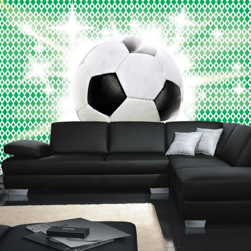 vlies fototapete no 1038 fu ball tapete fussball ball. Black Bedroom Furniture Sets. Home Design Ideas