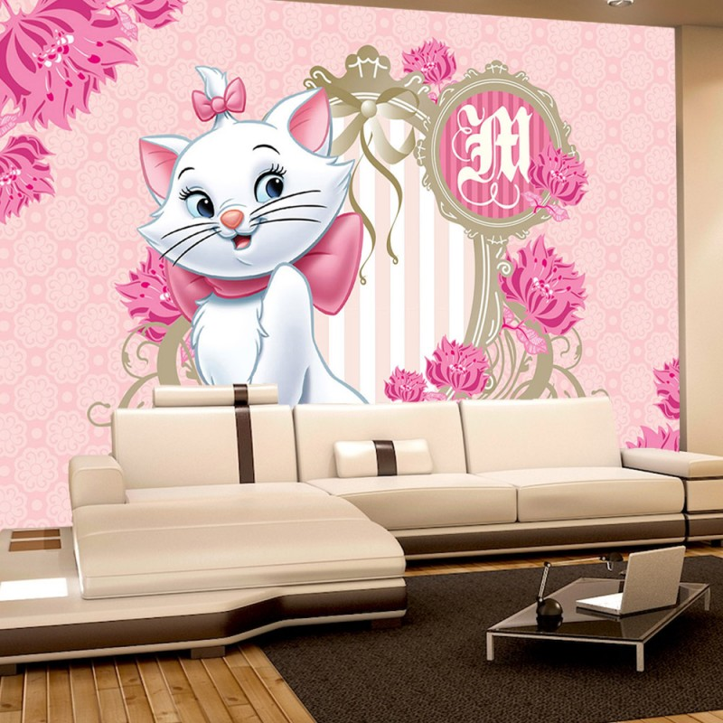vlies fototapete no 1114 disney tapete disney aristocats marie kindertapete cartoon katze. Black Bedroom Furniture Sets. Home Design Ideas