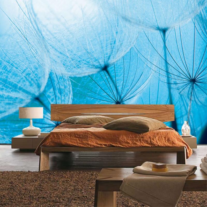 vlies fototapete no 1075 blumen tapete pusteblumen. Black Bedroom Furniture Sets. Home Design Ideas