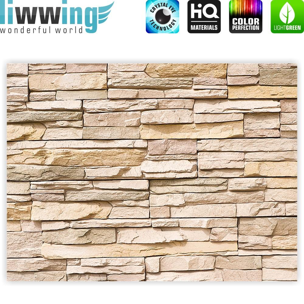 Steintapete beige  liwwing (R) Marken Leinwandbild