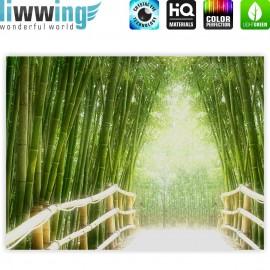 "liwwing (R) Marken Leinwandbild ""Bamboo Walk"" | Classic (4:3) | Bambusweg Bambuswald Dschungel Asia Asien Bamboo Way Wald"