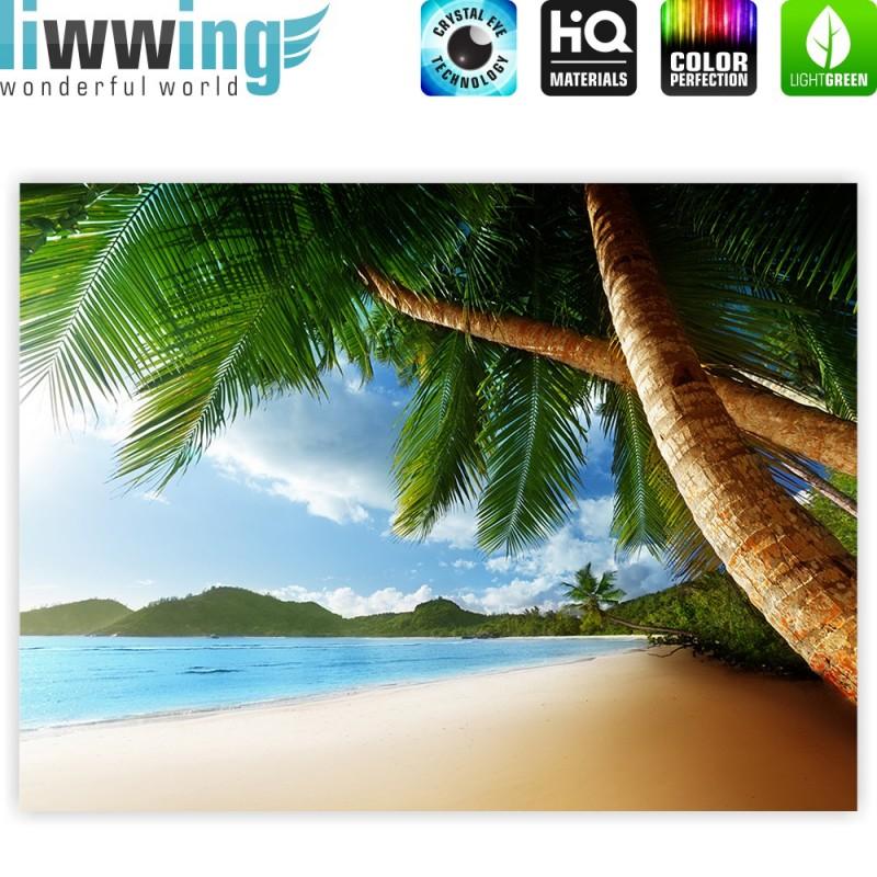 liwwing r marken leinwandbild lonely beach classic. Black Bedroom Furniture Sets. Home Design Ideas