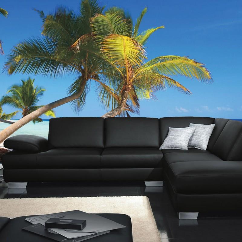 vlies fototapete no 1101 meer tapete strand palmen. Black Bedroom Furniture Sets. Home Design Ideas