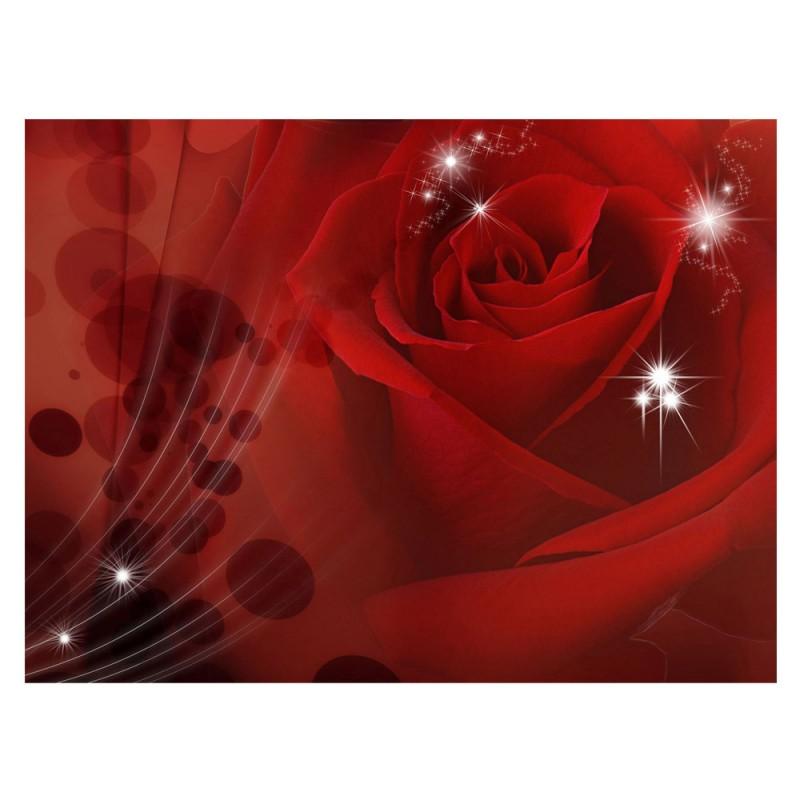 Vlies fototapete no 1105 blumen tapete rose blumen for Tapete rot muster