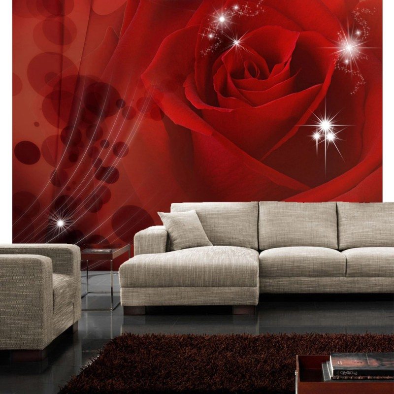 vlies fototapete no 1105 blumen tapete rose blumen. Black Bedroom Furniture Sets. Home Design Ideas