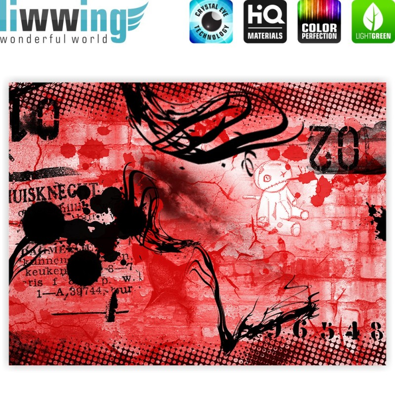 Liwwing r marken leinwandbild red graffiti wall for Leinwandbilder kinderzimmer