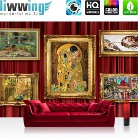 "Vlies Fototapete ""no. 1217"" | Gemälde Tapete Kunst Bilderrahmen Antik gold | liwwing (R)"