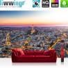 "Vlies Fototapete ""no. 1225"" | Frankreich Tapete Skyline Paris Sonnenuntergang Eiffelturm orange | liwwing (R)"