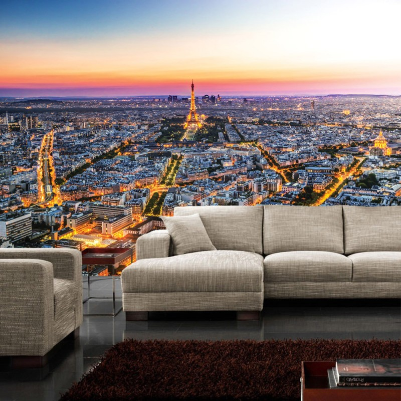 vlies fototapete no 1225 vliestapete liwwing r frankreich tapete skyline paris. Black Bedroom Furniture Sets. Home Design Ideas