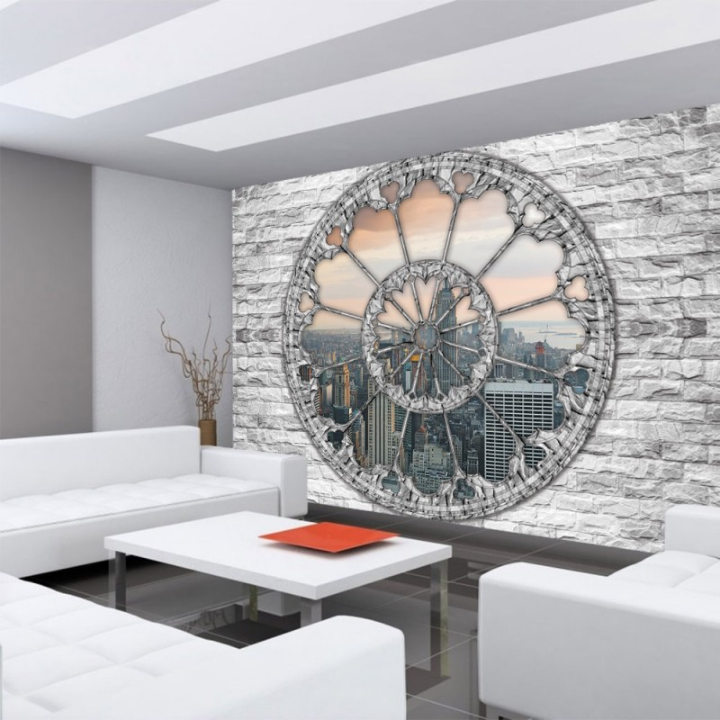 vlies fototapete no 1230 vliestapete liwwing r new york tapete steinwand panorama skyline. Black Bedroom Furniture Sets. Home Design Ideas