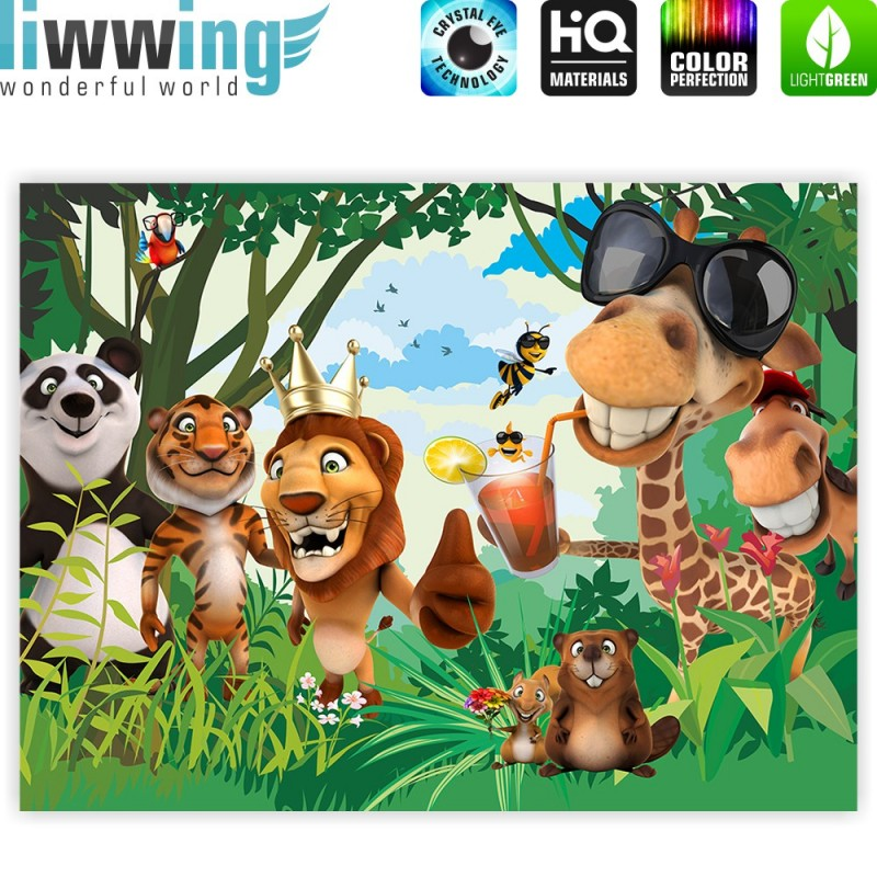 "liwwing (R) Marken Leinwandbild ""Jungle Animals Party II ..."