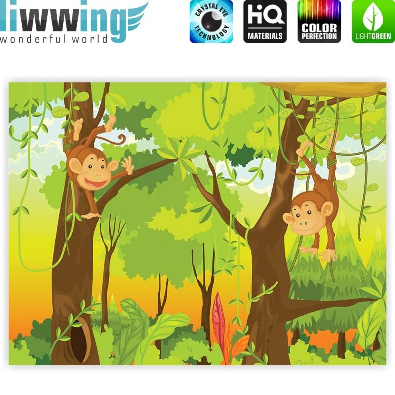 Liwwing r marken leinwandbild jungle animals monkeys for Leinwandbilder kinderzimmer