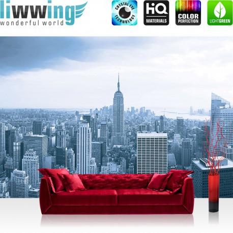 "Vlies Fototapete ""no. 1327"" | New York Tapete Manhattan New York Skyline blau | liwwing (R)"