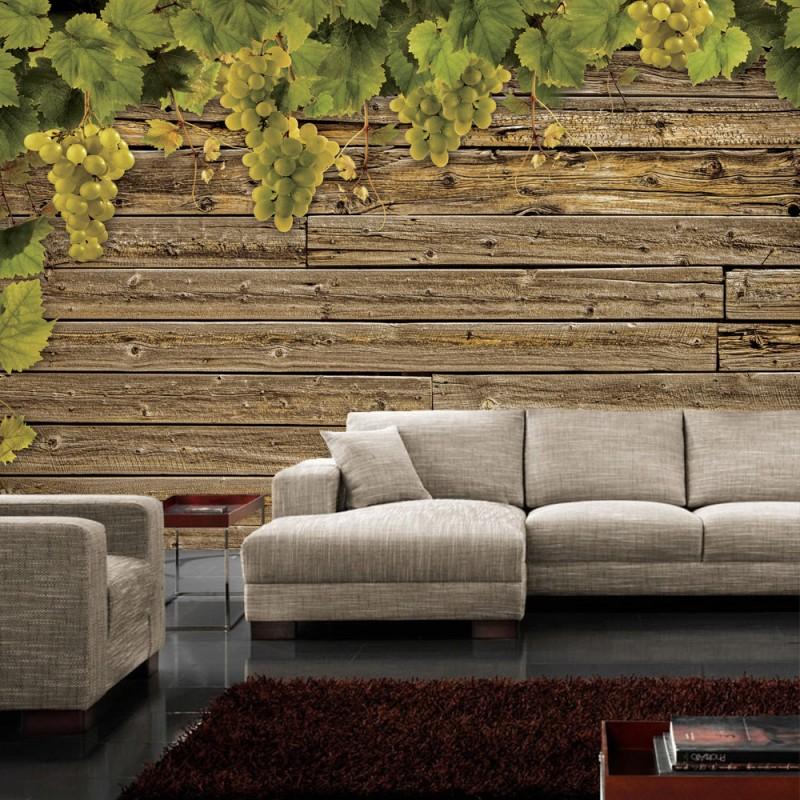 vlies fototapete no 1238 vliestapete liwwing r wein tapete holzwand holz wand wein. Black Bedroom Furniture Sets. Home Design Ideas