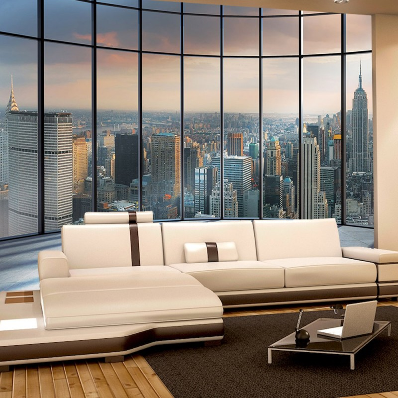 vlies fototapete no 1336 vliestapete liwwing r new york tapete ausblick panorama manhattan. Black Bedroom Furniture Sets. Home Design Ideas