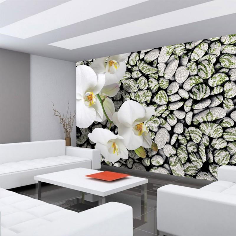 Wellness steine wallpaper  Vlies Fototapete no. 1340 | Vliestapete liwwing (R) Orchideen ...