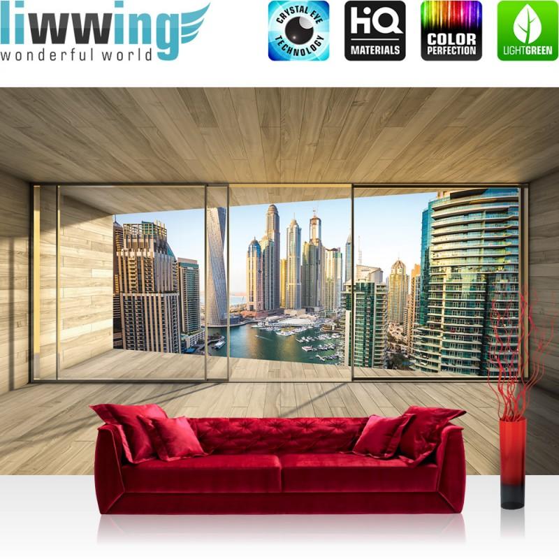 vlies fototapete no 1404 vliestapete liwwing r architektur tapete terrasse balkon fenster. Black Bedroom Furniture Sets. Home Design Ideas