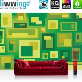 "Vlies Fototapete ""no. 1431"" | Gemälde Tapete Gemälde Kunst Kacheln Rechtecke Malerei Design grün | liwwing (R)"
