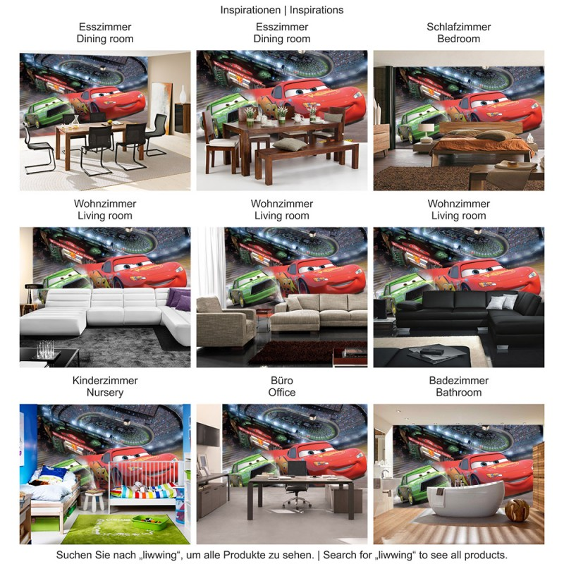 vlies fototapete no 1436 disney tapete cars. Black Bedroom Furniture Sets. Home Design Ideas