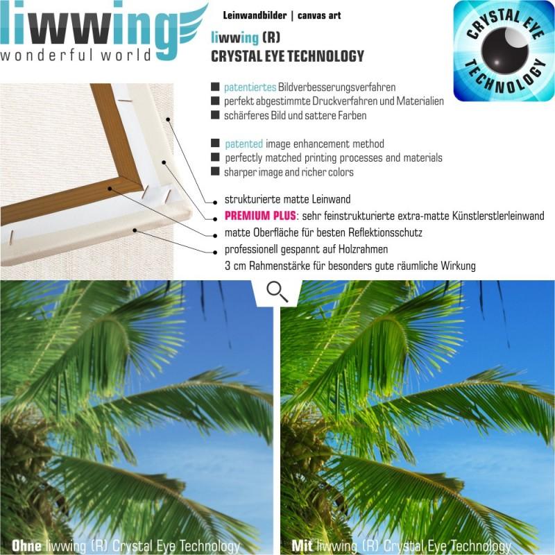 liwwing r marken leinwandbild lonely beach panorama. Black Bedroom Furniture Sets. Home Design Ideas