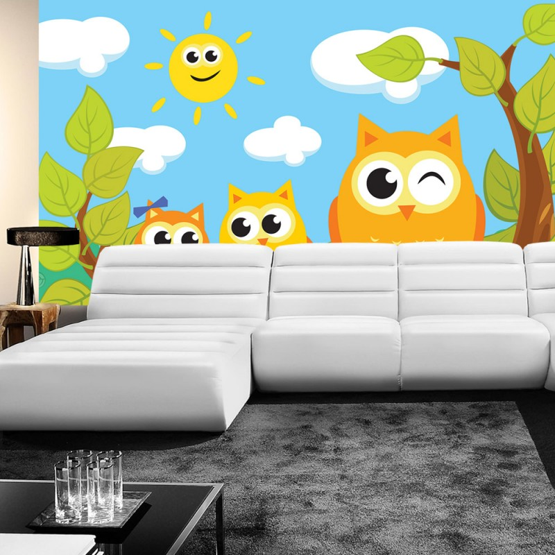 vlies fototapete no 1466 vliestapete liwwing r cartoon tapete kindertapete cartoons eule. Black Bedroom Furniture Sets. Home Design Ideas