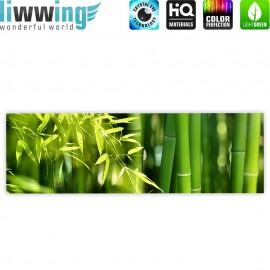 "liwwing (R) Marken Leinwandbild ""Far Asia Bamboo"" | Panorama | Bambus Bambuswald Dschungel Asia Asien Bambusweg"