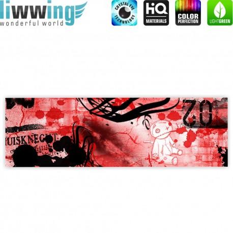 Liwwing r marken leinwandbild red graffiti wall for Graffiti jugendzimmer