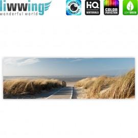 "liwwing (R) Marken Leinwandbild ""North Sea Dunes"" | Panorama | Strand Meer Ostsee Beach Blau Himmel Sonne Sommer"