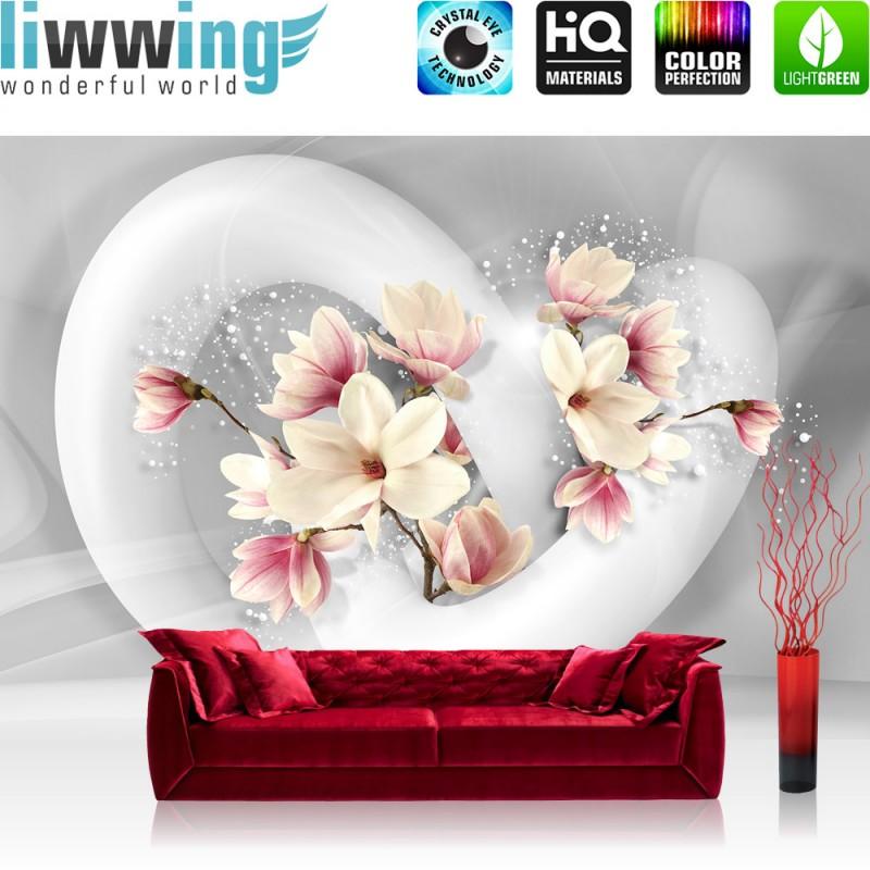 vlies fototapete no 1535 vliestapete liwwing r blumen. Black Bedroom Furniture Sets. Home Design Ideas