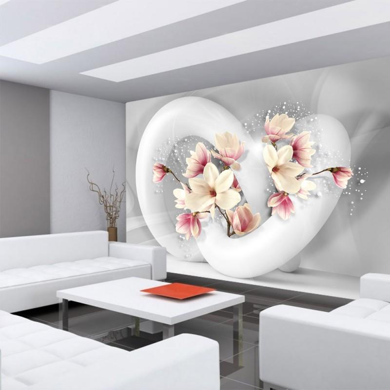 vlies fototapete no 1535 vliestapete liwwing r blumen tapete blume bl ten schn rkel 3d. Black Bedroom Furniture Sets. Home Design Ideas