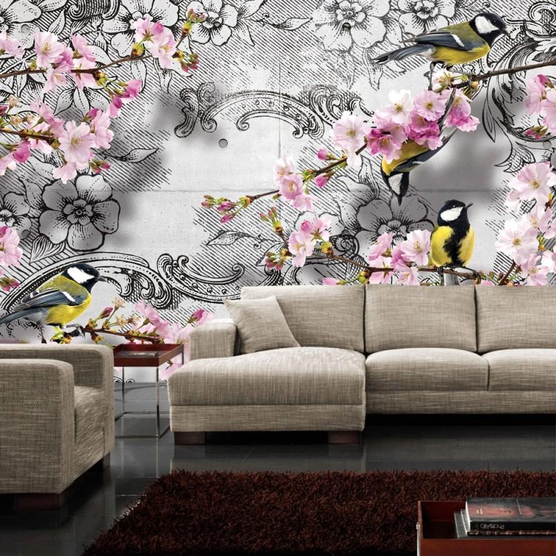 vlies fototapete no 1538 vliestapete liwwing r blumen. Black Bedroom Furniture Sets. Home Design Ideas