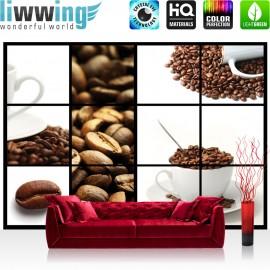 "Vlies Fototapete ""no. 1587"" | Kaffee Tapete Bohnen Kaffeetasse Kaffee weiß | liwwing (R)"
