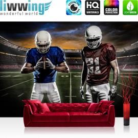 "Vlies Fototapete ""no. 1592"" | Sport Tapete Football Footballspieler Stadium Himmel bunt | liwwing (R)"