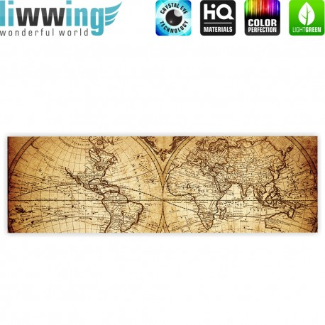 liwwing r marken leinwandbild vintage world map. Black Bedroom Furniture Sets. Home Design Ideas