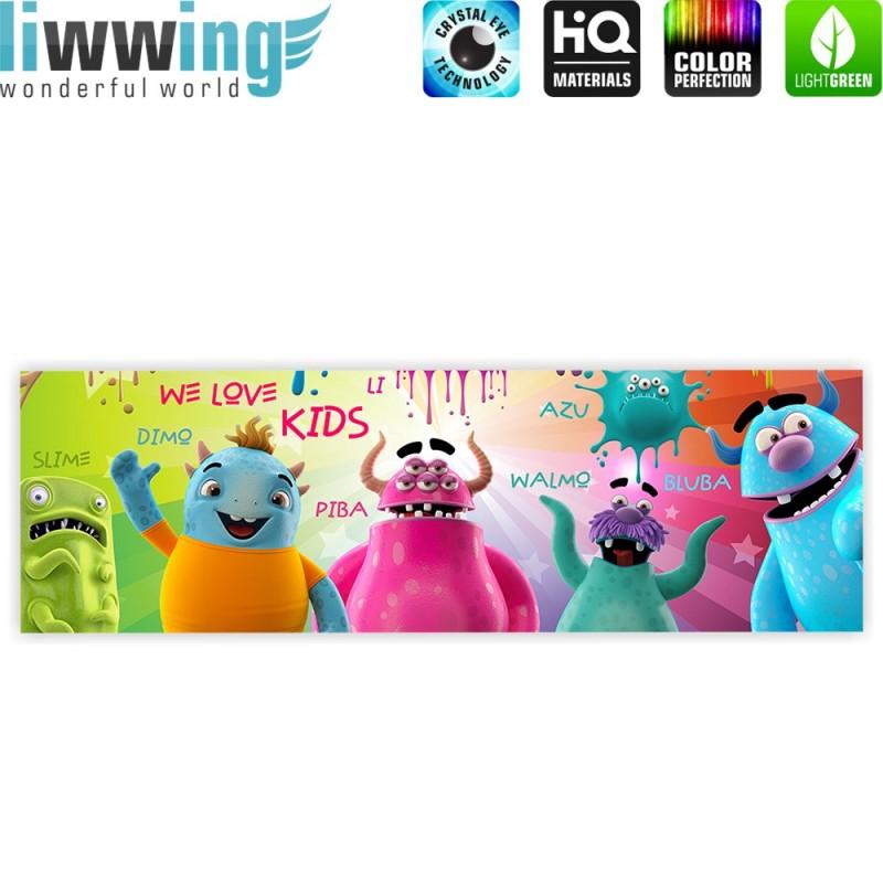 Liwwing r marken leinwandbild lovely monsters for Leinwandbilder kinderzimmer