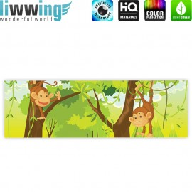 "liwwing (R) Marken Leinwandbild ""Jungle Animals Monkeys"" 