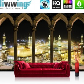 "Vlies Fototapete ""no. 1662"" | Architektur Tapete Moschee Mekka Lightning Bögen gelb | liwwing (R)"