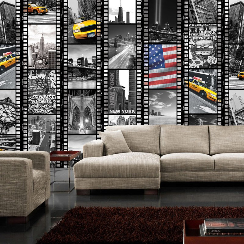 vlies fototapete no 1665 vliestapete liwwing r new york tapete amerika usa taxi br cke. Black Bedroom Furniture Sets. Home Design Ideas