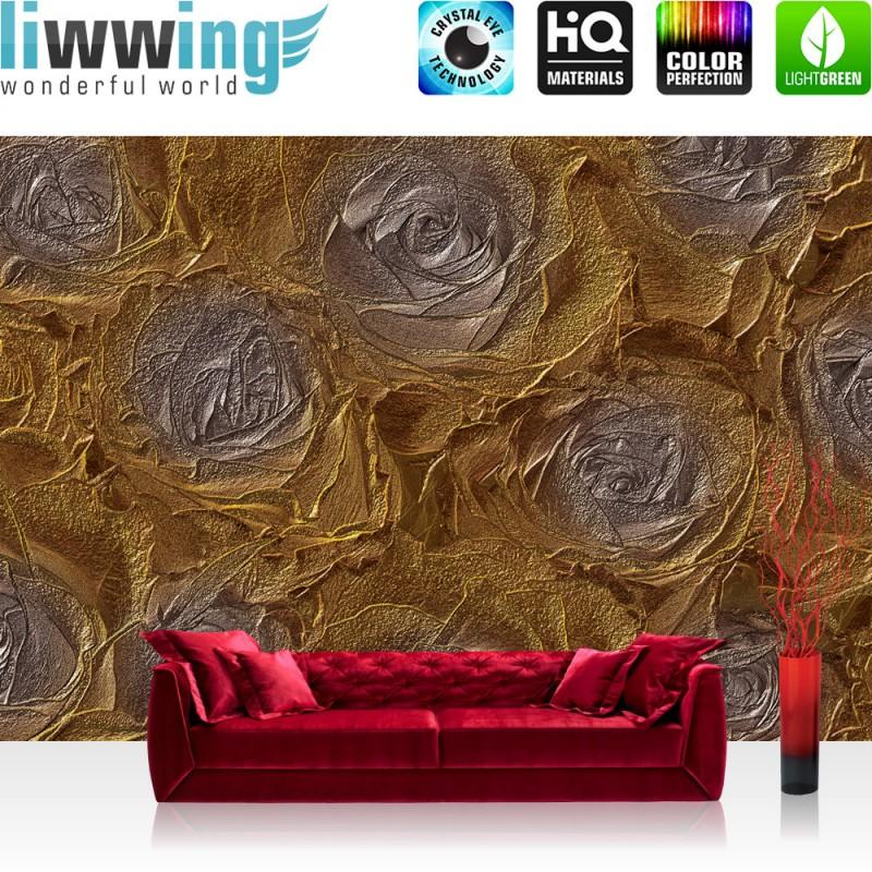 vlies fototapete no 1669 blumen tapete abstrakt blume rose gold liwwing. Black Bedroom Furniture Sets. Home Design Ideas