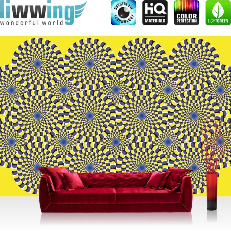 vlies fototapete no 1691 vliestapete liwwing r kunst tapete abstrakt optische t uschung. Black Bedroom Furniture Sets. Home Design Ideas