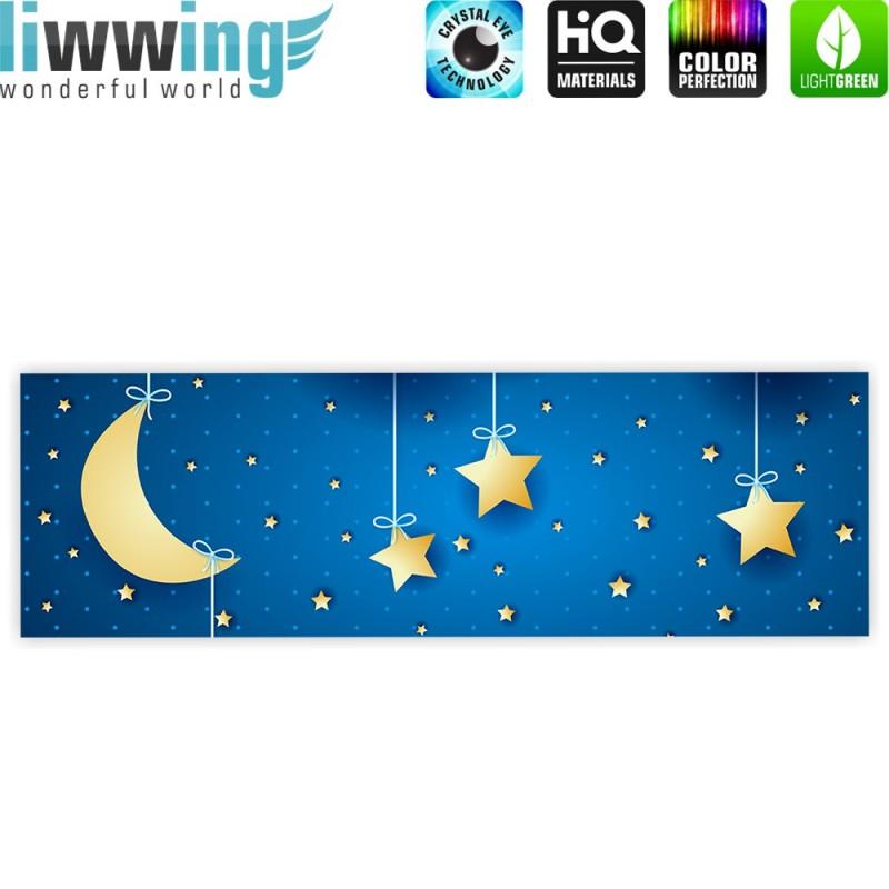 liwwing r marken leinwandbild dreaming night panorama kindertapete sternenhimmel stars. Black Bedroom Furniture Sets. Home Design Ideas