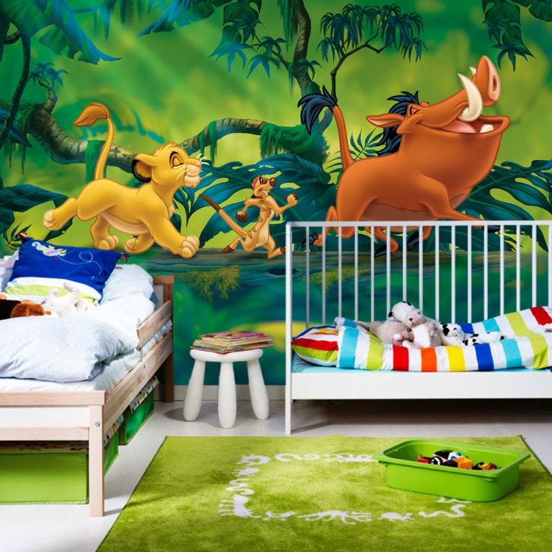 vlies fototapete no 1399 vliestapete liwwing r disney tapete k nig der l wen kindertapete. Black Bedroom Furniture Sets. Home Design Ideas