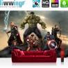 "Vlies Fototapete ""no. 1279"" | Jungen Tapete Marvel AVENGERS Hulk Iron Man Thor Captain America Black Widow bunt | liwwing (R)"