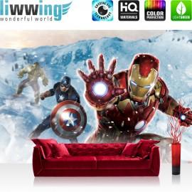 "Vlies Fototapete ""no. 1280"" | Jungen Tapete Marvel AVENGERS Hulk Iron Man Thor Captain America Black Widow bunt | liwwing (R)"
