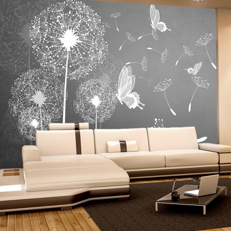 vlies fototapete no 1430 vliestapete liwwing r pflanzen tapete pusteblume blume pflanze. Black Bedroom Furniture Sets. Home Design Ideas