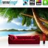 PREMIUM Fototapete - no. 4 | Lonely Beach | Strand Meer Palmen Beach 3D Ozean Palme