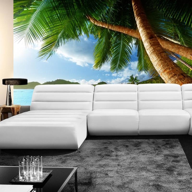 vlies fototapete lonely beach strand tapete meer. Black Bedroom Furniture Sets. Home Design Ideas